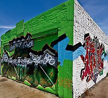 Graffiti corner by Celeste Mookherjee