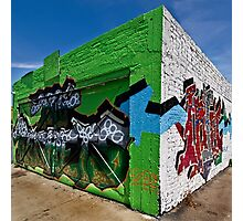 Graffiti corner Photographic Print