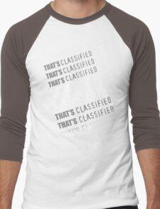 """""""That's Classified"""" - Eugene Porter (White Text) Men's Baseball ¾ T-Shirt"""