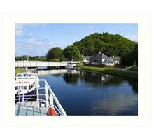 Loch Ness Canal Art Print