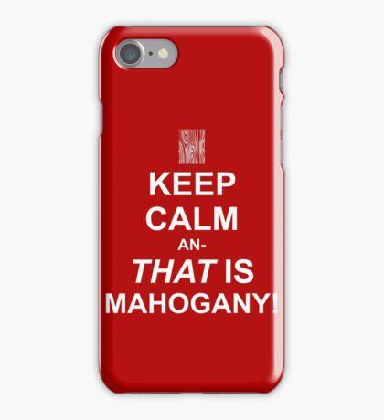 Calming Mahogany-White iPhone Case/Skin