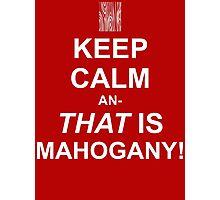 Calming Mahogany-White Photographic Print
