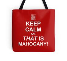 Calming Mahogany-White Tote Bag