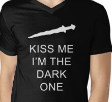 Once Upon A Time: Kiss Me I'm The Dark One  Mens V-Neck T-Shirt