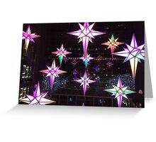 Holiday Lights, Time Warner Center, Columbus Circle, New York City  Greeting Card