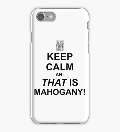 Calming Mahogany-Black iPhone Case/Skin