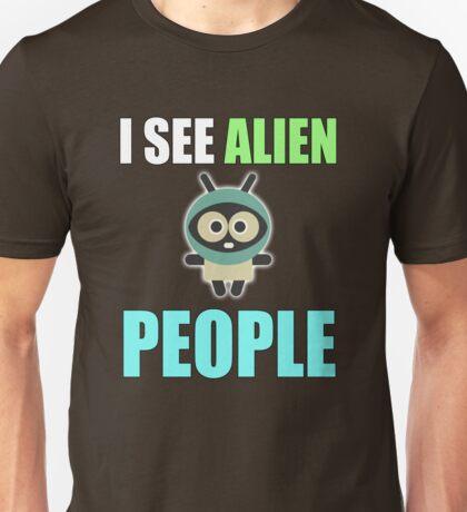I see alien people, I feel alone Unisex T-Shirt