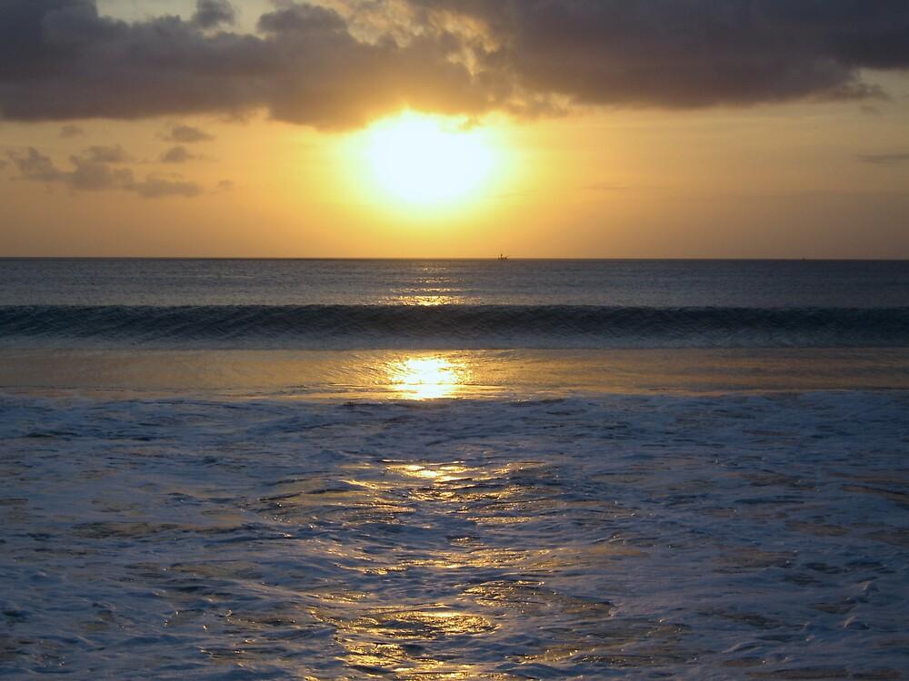 Sunset over Jimberan Bay by grimbomid
