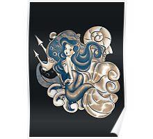The Dark Mermaid Princess Poster