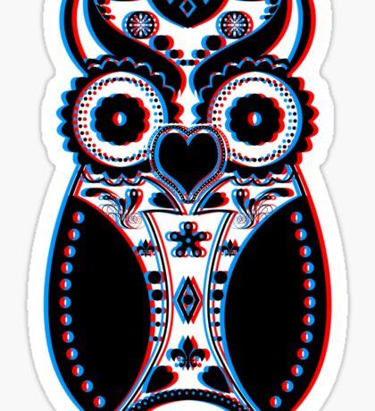 Stereoscopic Sugar Bird Sticker