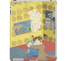 The Doctor Hugging a Tardis in color iPad Case/Skin