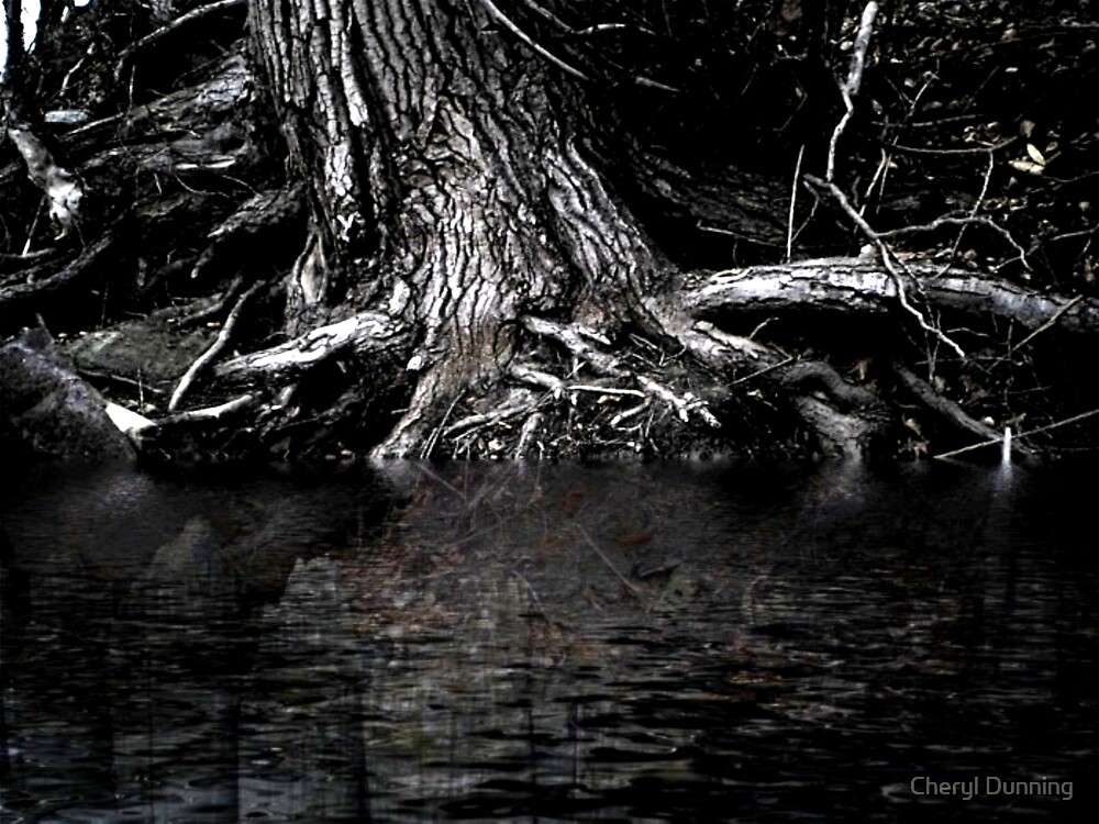 dark creepy tree by Cheryl Dunning