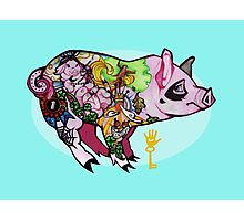 Inked piggy Photographic Print