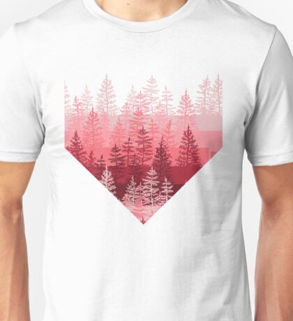 Red Forest Pattern Unisex T-Shirt