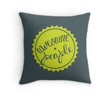 Awesome people [LIME] Throw Pillow