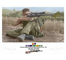 White Feather Sniper (Long Trang)  Photographic Print