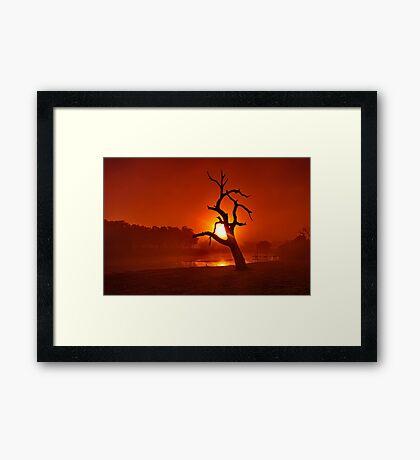 """Shrouded Dawn"" Framed Print"