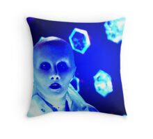 Yewll in The Terasphere Blue Throw Pillow