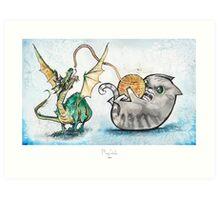Attack of the Dragon Art Print