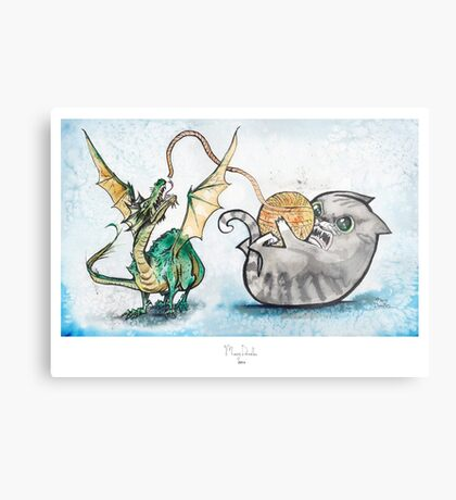 Attack of the Dragon Metal Print