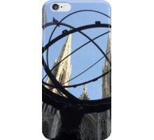 Rockefeller Center Sculpture, St. Patricks Cathedral, New York City  iPhone Case/Skin