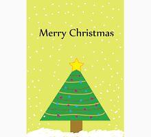 Merry Christmas - Snow on a Christmas Tree Unisex T-Shirt