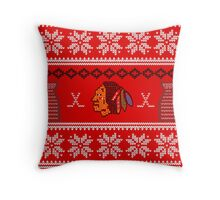 Hawksmas Sweater Throw Pillow