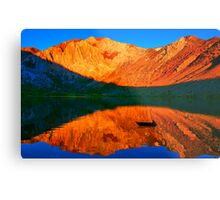Sunset  in Convict Lake, Mammoth Lakes, California Metal Print