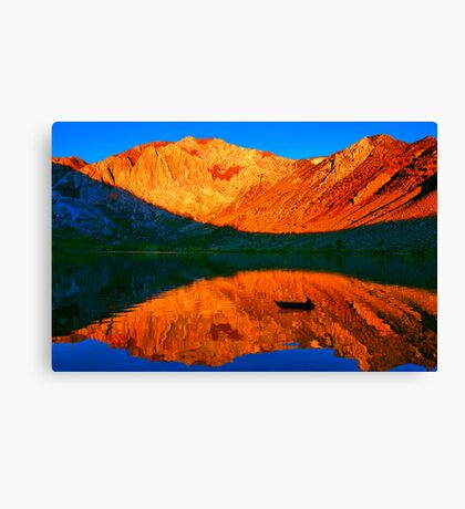 Sunset  in Convict Lake, Mammoth Lakes, California Canvas Print