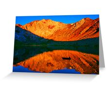 Sunset  in Convict Lake, Mammoth Lakes, California Greeting Card