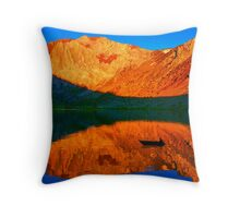 Sunset  in Convict Lake, Mammoth Lakes, California Throw Pillow