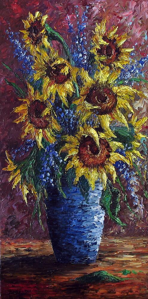 Sunflower Bouquet by David Paul