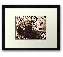 Embracing death Framed Print