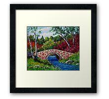The Little Stone Bridge Framed Print