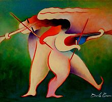 Violinistas by Jose De la Barra