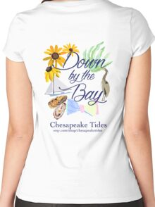 Down by the Bay::Chesapeake Tides Women's Fitted Scoop T-Shirt