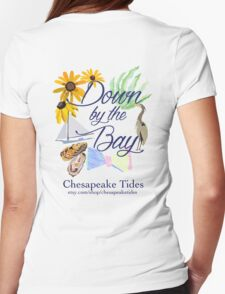Down by the Bay::Chesapeake Tides Womens Fitted T-Shirt