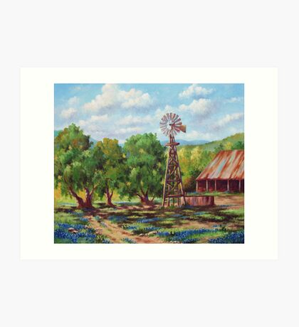 Shadows In The Farmyard Art Print