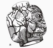 Veins of head by burntwoodstudio