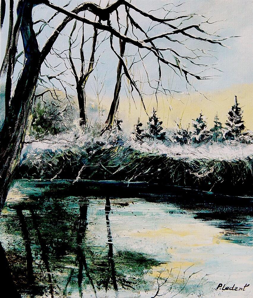River hileau in winter  by calimero