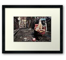 "Retro Pin Up, ""Wish you were here..."" Framed Print"
