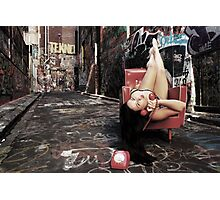 "Retro Pin Up, ""Wish you were here..."" Photographic Print"