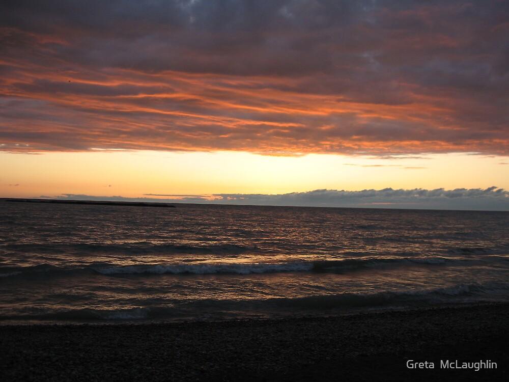 Lake Huron Sunset by Greta  McLaughlin
