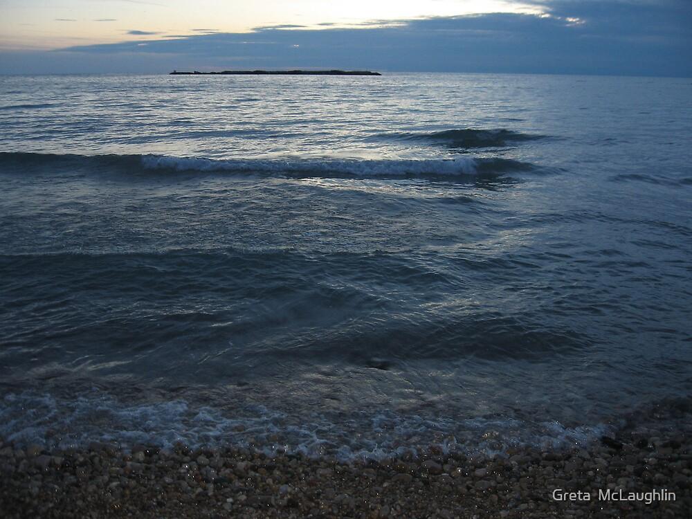 Gentle Evening Waves by Greta  McLaughlin