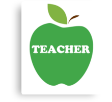 I'm a Teacher Green Apple Canvas Print