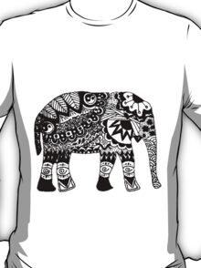 Hippie Elephant Design T-Shirt