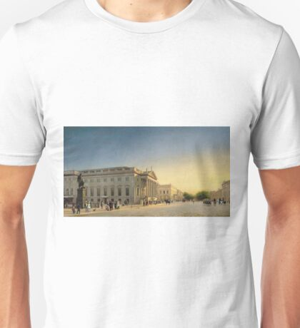 Eduard Gaertner - A View Of The Opera And Unter Den Linden, Berlin Unisex T-Shirt