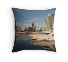 Melbourne Docklands Throw Pillow
