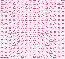 Girly Geometric Arrow Pattern -Sweet Pink Triangles  by PatternPrint