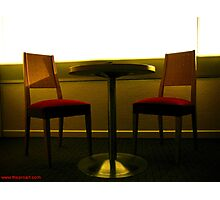 Room 2404 - table for two Photographic Print